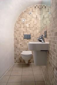 Basement Conversion for Barrel Vault Bathroom