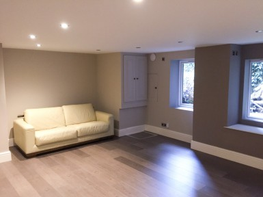 Basement Conversion Leeds into Media Room and Gym