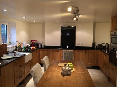 Basement Conversion Into Large Kitchen/Dining Room