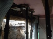 Basement Conversion Added Living Space and Luxury Shower Temporary Support To Install Doorway