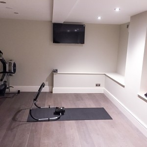 Basement Conversion Leeds into Media Room and Gym (1 of 7)