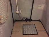 Access hatch to sump pump chamber