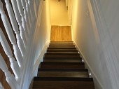 Staircase in a finished basement conversion