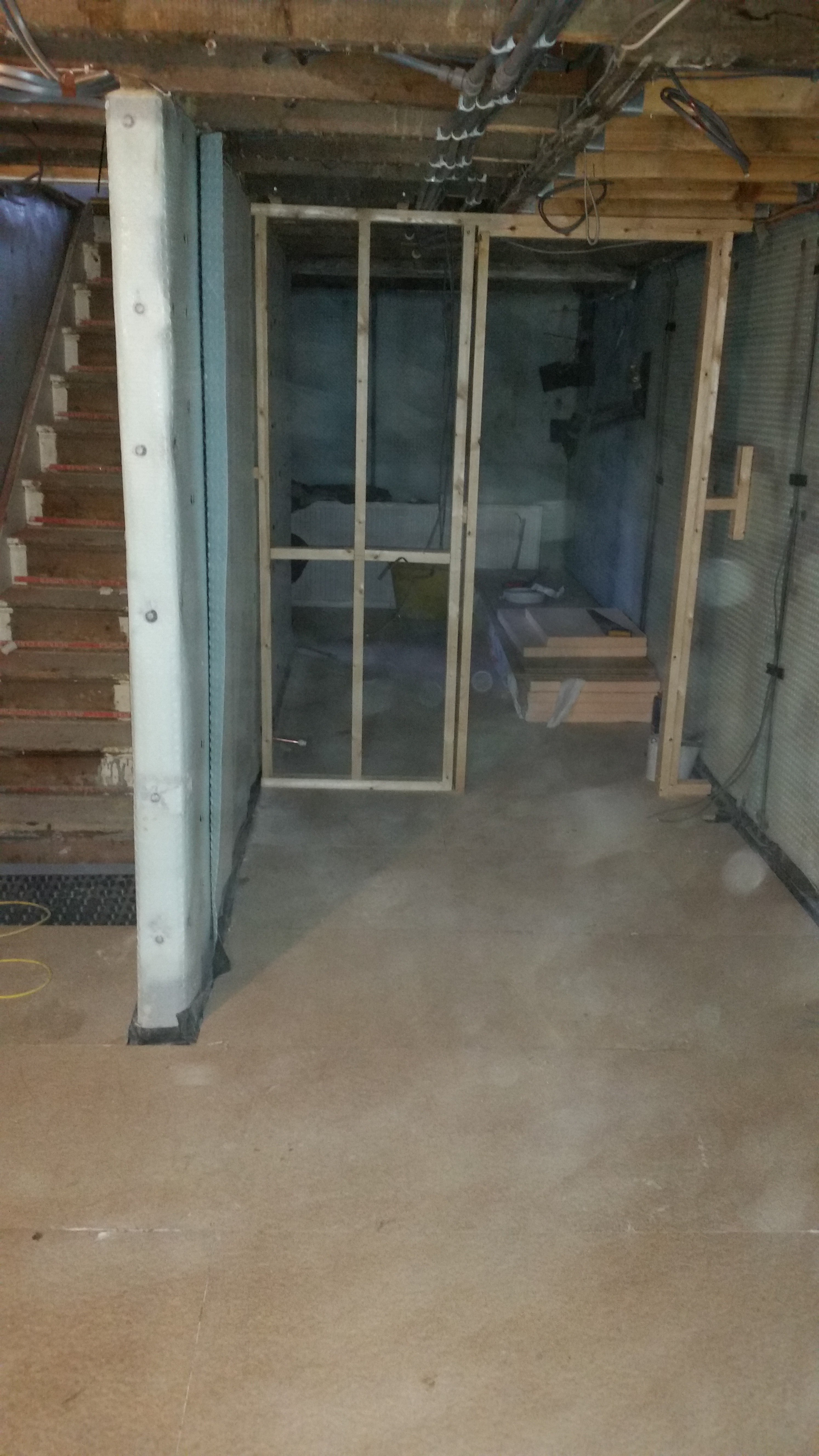Basement Study Room: Basement Conversion In Harrogate To Home Study And Office