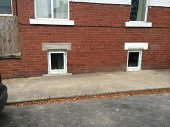Two new windows have been installed to maximise the natural light in the basement conversion