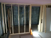 Installing the framework for a new interior wall