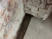 Drainage channels to take water to the sump pump