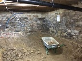 Commercial Cellar Tanking Project for a Leeds Building Contractor Before
