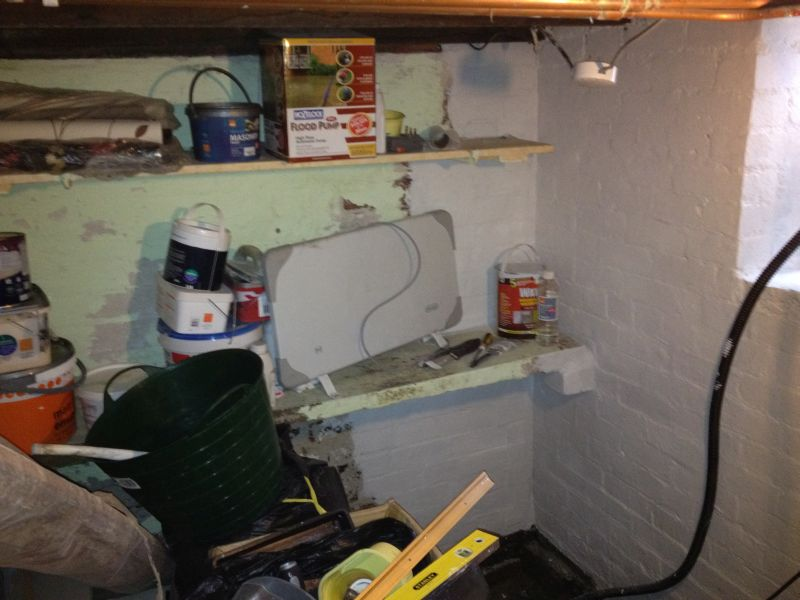 Conversion Of A Flooded Basement In Huddersfield To Dry