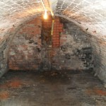 Leeds Basement Conversion - Damp Barrel Vaulted Basement To Additional Bathroom Before