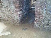 York Basement Conversion - Wet Basement To Dry Usable Space Before