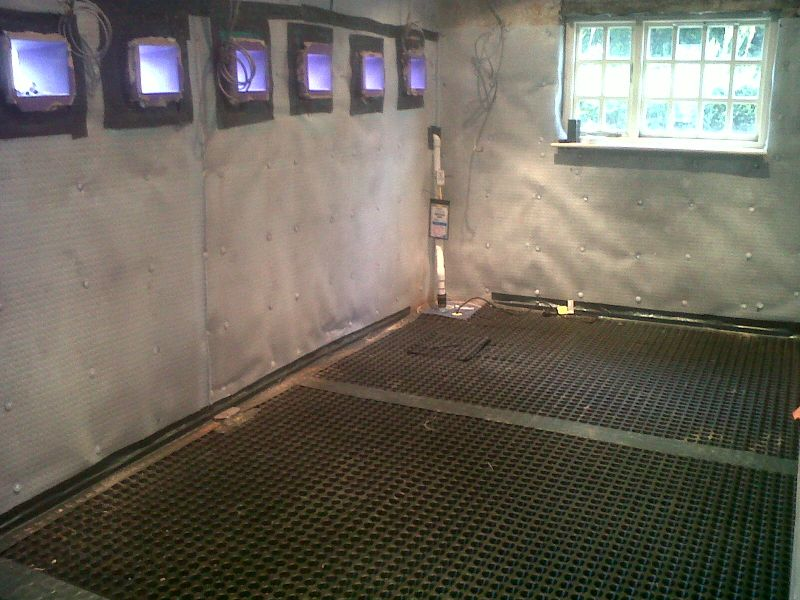 Conversion Of Flooded Basement In York To Home Office