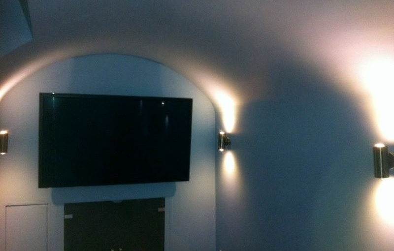 Leeds Basement Conversion - Damp Barrel Vaulted Basement To Additional Living Space With Media Room After
