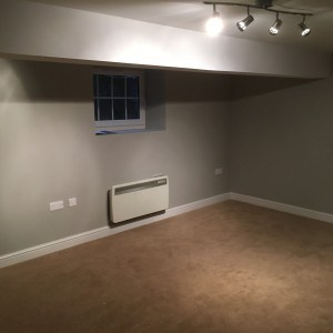 Knutsford Basement Conversion – Damp Basement to Large Dry Multi Room Living Space